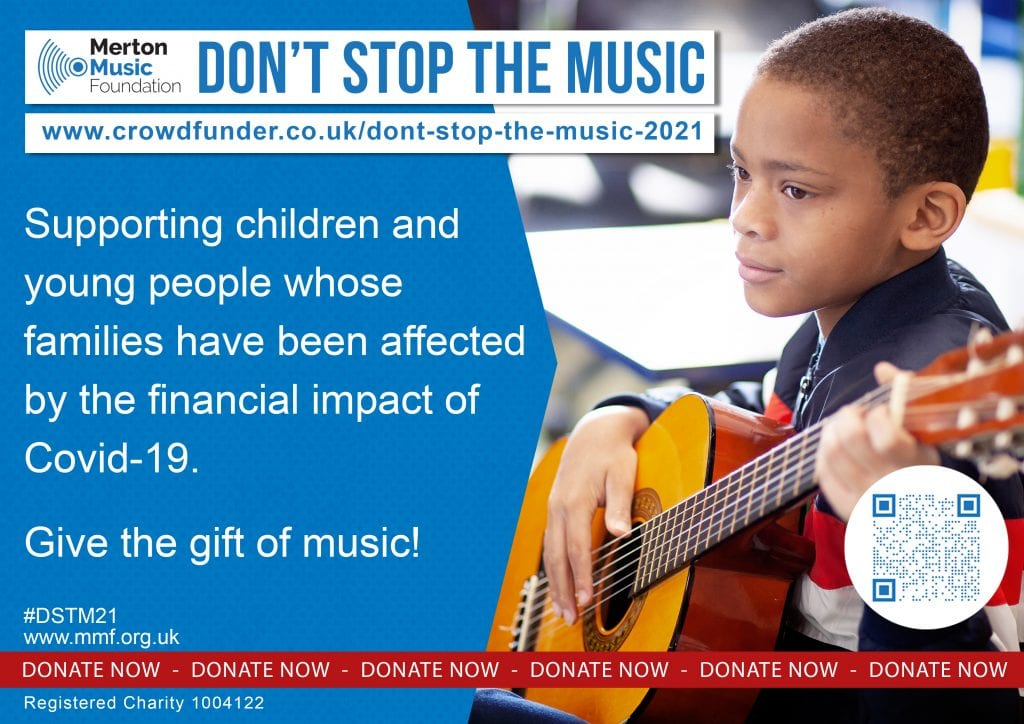 #DSTM21 Don't Stop the Music 2021 Merton Music Foundation