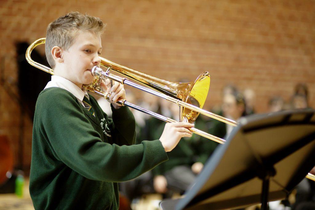 Child having music lesson with Merton Music Foundation