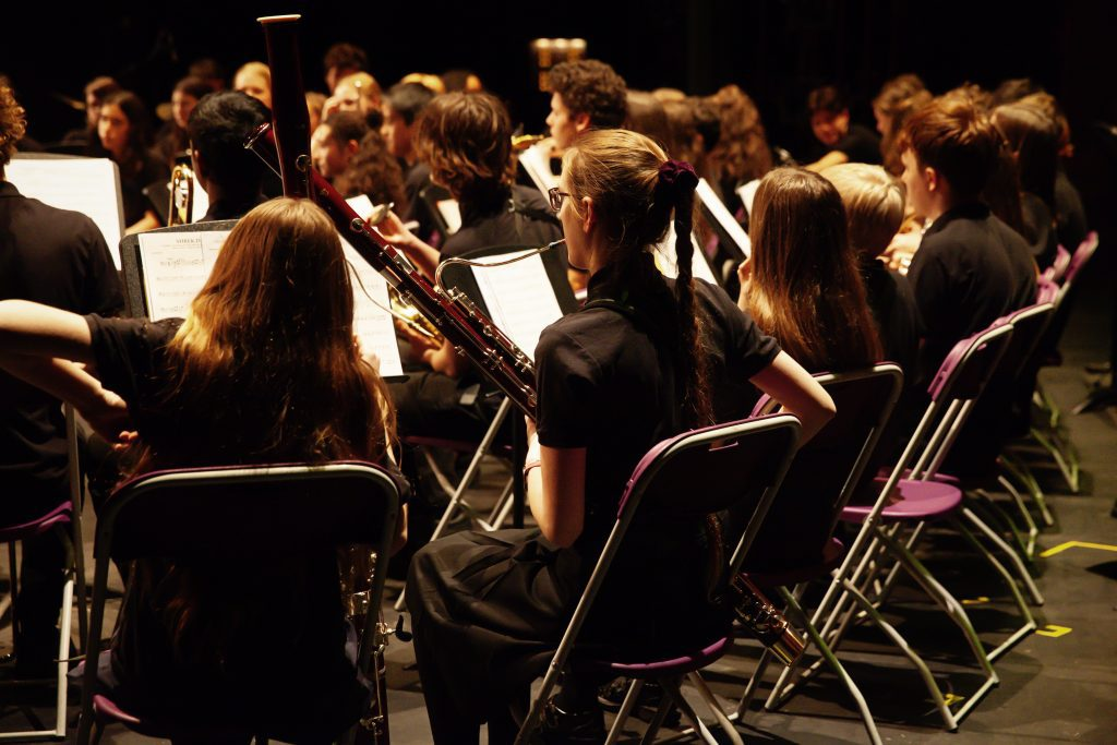 Photo of the Merton Youth Concert Band performing