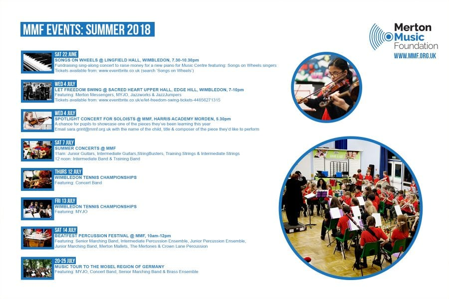 SUMMER EVENTS AT MMF | Merton Music Foundation