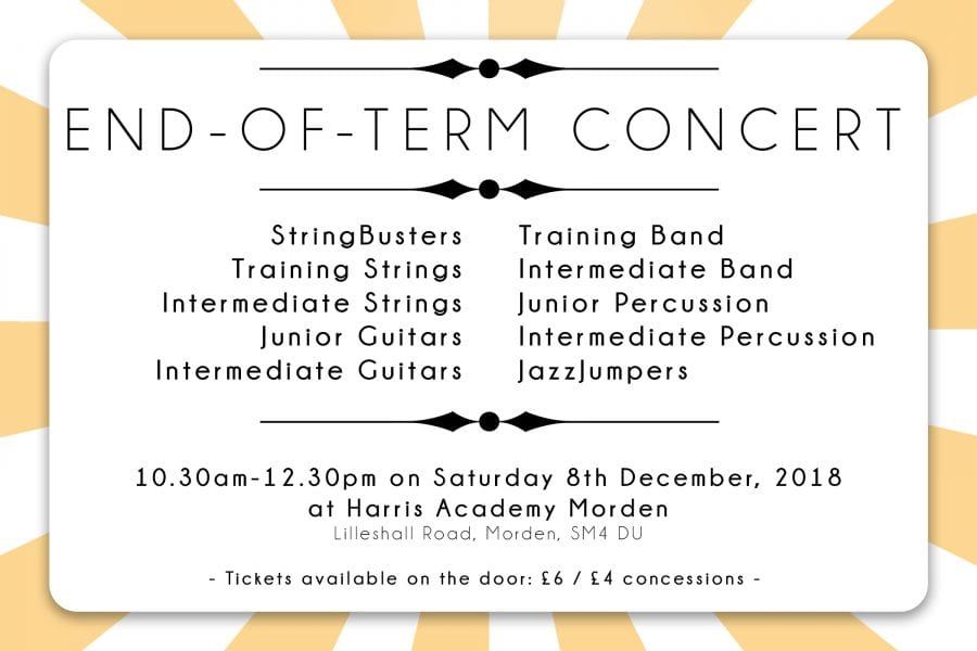 END-OF-TERM CONCERT / SAT 8 DEC | Merton Music Foundation